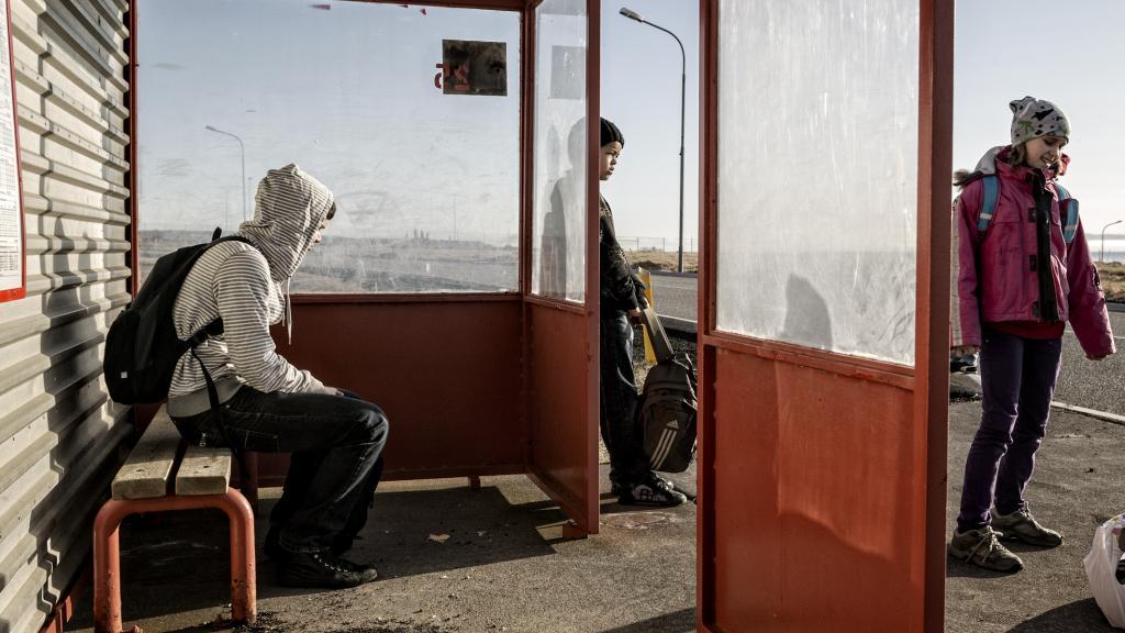 Stoppistöð, Skógarbraut, 2009 / Bus Stop